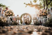 Wedding Ceremony Beach Front by Bali Izatta Wedding Planner & Wedding Florist Decorator