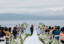 Cliff Top Ceremony by LANDRESS WEDDING