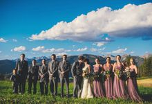 Mountain Top Wedding overlooking Vail by Connection Photography