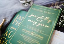 An Emerald  Green themed wedding of Phillip and Grace by Peach Frost Studio