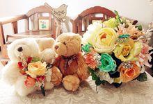 FRESHIA WEDDING BOUQUET by LUX floral design