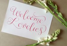 Wedding Signage by DC Calligraphy