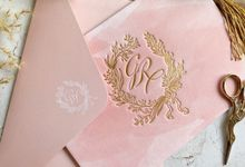 Blush Watercolor Vellum by Trouvaille Invitation