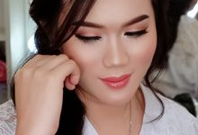 Bridal makeup for Ms Aline by Natcha Makeup Studio