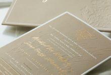 Michael & Jane Wedding Invitation by Calligraphy By Mercia