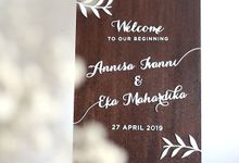 Wedding Sign by The White Dove
