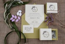 ROMANTIC FLOWER & OLIVE THEME by ES PROUD INVITATIONS