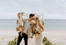 Shantelle & Luke's Elopement Wedding at Nusa Dua Beach by Amora Bali Weddings