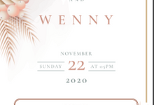 William Wenny Wedding Invitation by kondangankuyy