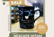 FLASH SALE MUG NESCAFE HITAM GRADE B WEDDING SOUVENIR by Mug-App Wedding Souvenir