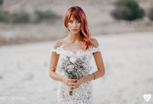 Red hair bride by oneweddingstory