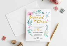 Botanical Invitation Cards by mylin design & co.