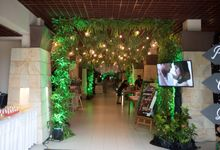 Ballroom Greenery Wedding Decoration by Bali Izatta Wedding Planner & Wedding Florist Decorator