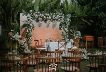 Dekorasi Simple Wedding Zhifran dan Fithrah by jellycious.project