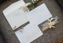 Benny & Sara's Wedding by Cloche Atelier