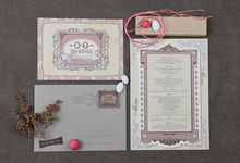 GRANDE VINTAGE IN STYLE INVITATION by ES PROUD INVITATIONS