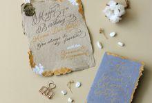 Custom Greeting Card for Bennanda by Calligraphy By Mercia