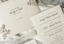 Timothy & Sashi Wedding Invitation by Calligraphy By Mercia