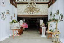 SWEET GREENERY BALLROOM WEDDING DECORATION by Bali Izatta Wedding Planner & Wedding Florist Decorator