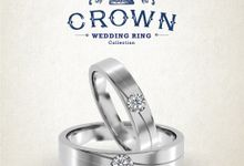 Crown Wedding Ring by Adelle Jewellery