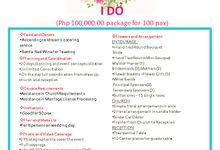 EARLY CHRISTMAS PROMO  I DO 100k package by iDream Wedding & Events