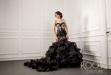 Black Elegant Night Gown Rooya Couture by Rooya Couture
