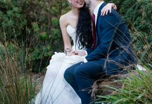 Bridal Photoshoot in the Dandenong Mountans by Innicka Dee Cakes