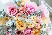 Pastel Roses Bouquet by Royal Design Indonesia