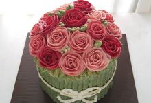 flower cake by Cupkate
