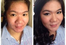 Before after makeup by Adeline by Adeline Wijaya Makeup Artist
