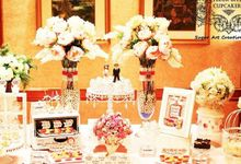 Dessert Table by Fleur Bites Cupcakery