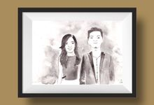 Portrait or Couple Illustration by By Kartika Drawing