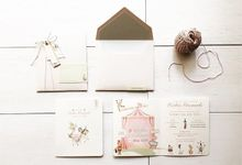 Keishia - Circus - First Birthday Invitation by LE POMMIER { Bespoke Hampers & Paper Goods }