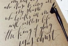 Calligraphy works by Wonderscripts