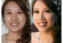 Bridal hair and makeup (Before-After) by W2 Hair and Make Up