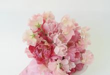 PINK theme -Wedding Bouquet by Hana Flower Boutique by Hana Flower Boutique