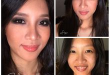 Before - After Makeup by Calenia Letitia Makeup Artist
