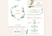 The Wedding of Marco & Rebecca by Dove Paperie