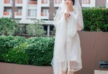 Venice Tulle Pearl Robe by Haeng Bok Hae (Happiness)