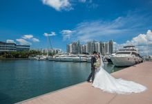 Pre-wedding shoot by the marina by ONE°15 Marina Sentosa Cove, Singapore