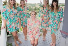 Bride and Bridesmaid Robes by Le Rose