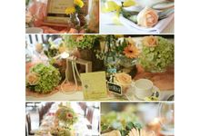 table decoration by Apple Blooms Creation