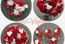 Wedding bouquet by visylviaflorist