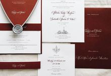 Annora and Teddy Wedding Invites by Veronica Halim Calligraphy
