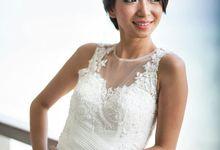 Custom made wedding gown for Shella by Miyuki Liem Bridals