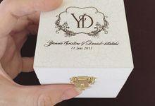 Wedding ring box by Lanina box