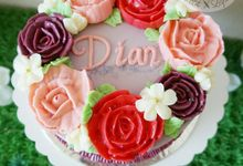Flower Buttercream Cakes by Petit Lapin