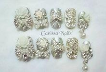 Acrylic Wedding Nails by Carissa Nails