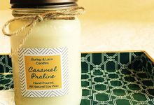 Burlap and Lace Candles by Burlap and Lace Candle Company