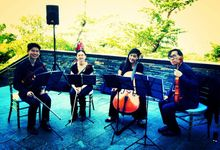 ShiLi & Adi feat John Lye & Turbochicken at Dylan & Robin's Wedding Lunch at Capella, Sentosa by Merry Bees Live Music